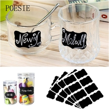 32Pcs/4 Set Blackboard Sticker Craft Kitchen Jar Organizer Labels Chalkboard Chalk Board Stickers Black