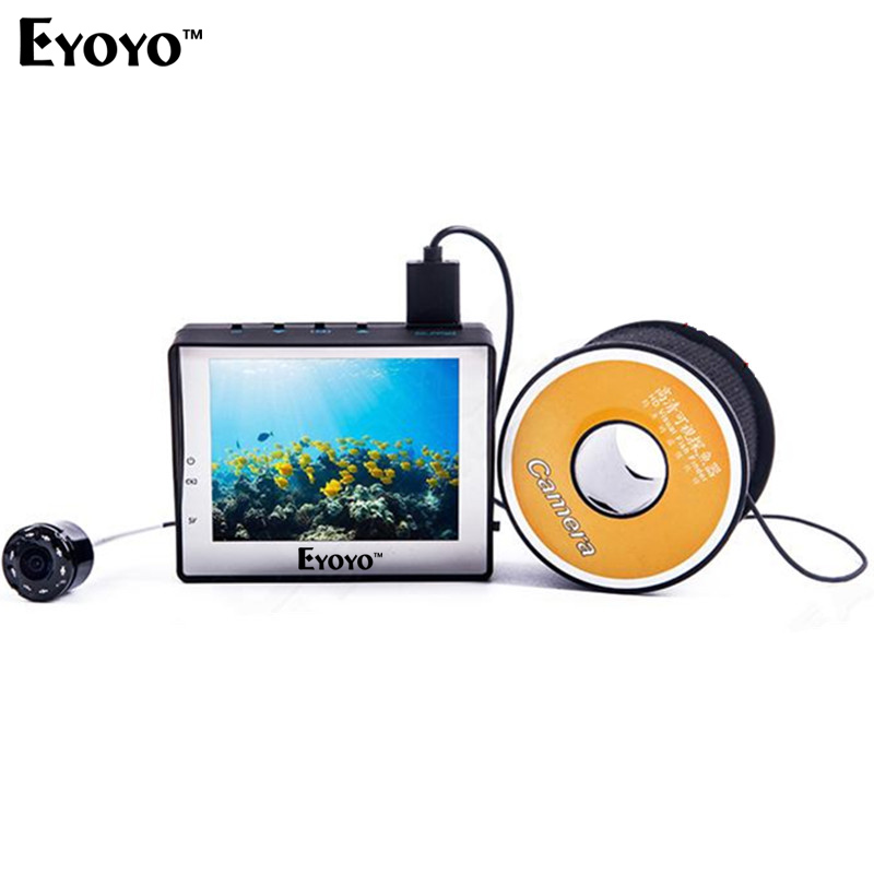 Free shipping!WF02 Portable Fish Finder 1000TVL Underwater Video Fishing Camera 3.5 LCD Monitor 30M Cable Ice Ocean Fishing 2 4g wireless fish finder underwater fishing camera video free soft app 50m underwater breeding monitoring for fish searching