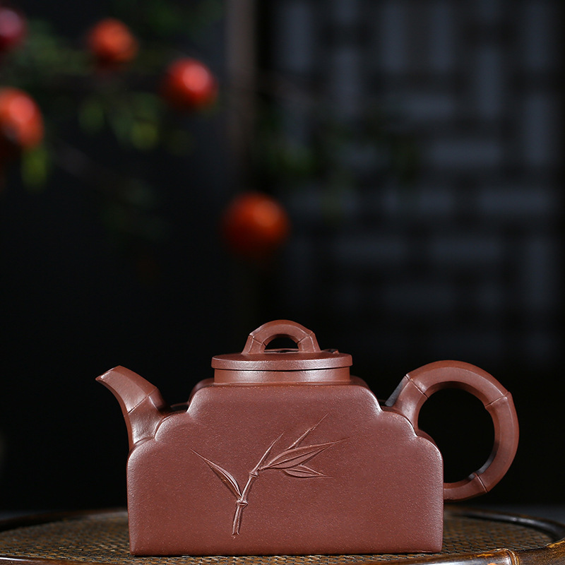 Manual Raw Ore Purple Mud Half Bamboo Joint Kettle Preserve Ones Health Infusion Of Tea Kungfu Online Teapot Tea Set GiftManual Raw Ore Purple Mud Half Bamboo Joint Kettle Preserve Ones Health Infusion Of Tea Kungfu Online Teapot Tea Set Gift