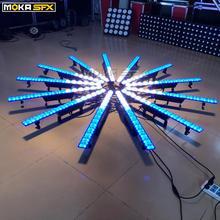 2 шт., 14 шт. x 3 Вт, настенный светильник для мытья, DMX, настенный светильник, сценический светильник, RGB, 3в1, уличный светодиодный светильник для мытья, для ночного клуба, Рождества