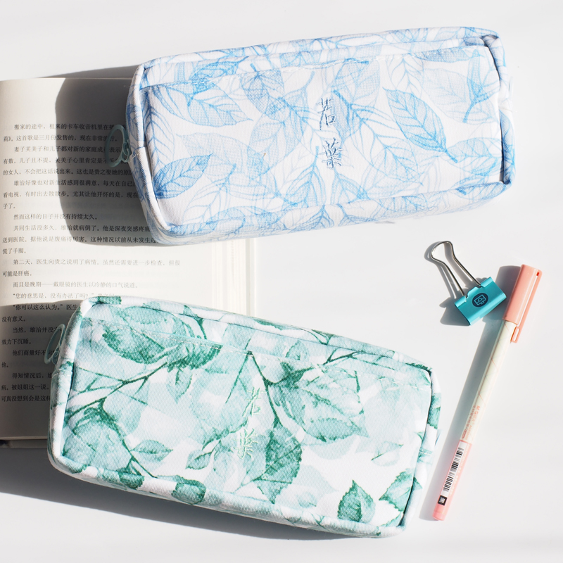 Pencil Case Korean Stationery Creative Simple Large Capacity High Quality Canvas Zipper Pencil Case Cute Student Stationery BOX pencil case korean stationery creative simple large capacity pu zipper pencil case cute student supplies high quality waterproof