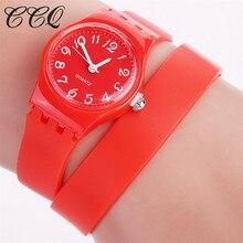 Mulheres CCQ Geléia Pulseira De Silicone relógio de Pulso Casual Sports Watch Meninas Rubber Relógio De Quartzo Relógio Relogio feminino Presente 1998