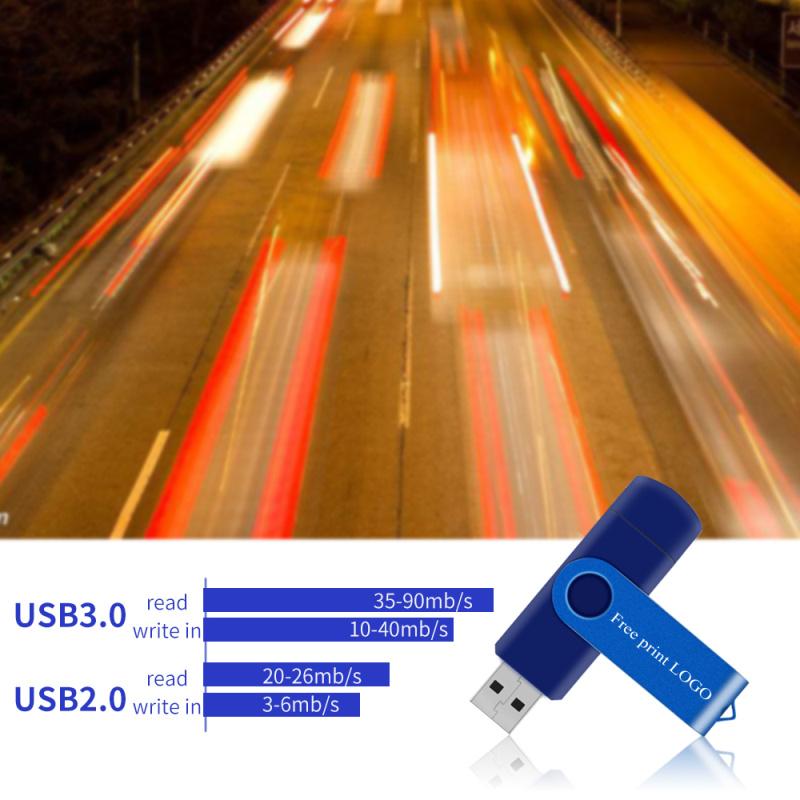 Pen Drive 128gb Memory Stick 64gb 8gb 4gb Metal OTG Pendrive 16gb Metal Usb Flash Drive 32gb Double Application Free Custom Logo (11)