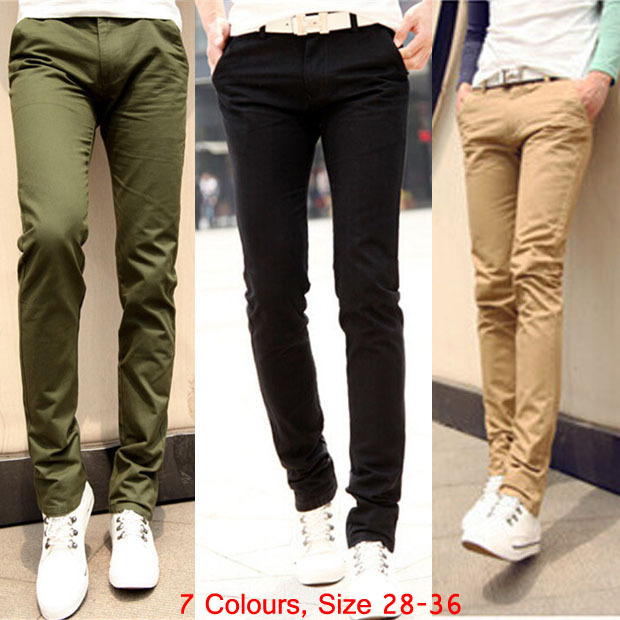 f6e44ec3864ad9 2014 New Mens Casual Slim Fit Chinos Pants Trousers Joggers Bottoms Clothing  Roupas Calca Masculinas Plus Size 28 36 464B-in Casual Pants from Men's ...