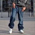2015 nuevos hombres de hip hop pantalones vaqueros de hiphop pantalones patinetas hombres baggy jeans denim pantalones vaqueros flojos ocasionales tamaño 30-46