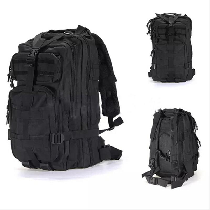 Men's Outdoor Backpack Multifunctional Military Tactical Black Camping Hiking Backpack High Capacity Waterproof Shoulder Bag