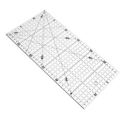 Multifunction Transparent Sewing Patchwork Ruler DIY Quilting Patchwork Drawing DIY Stationery Ruler Office Supplies 30 * 15cm