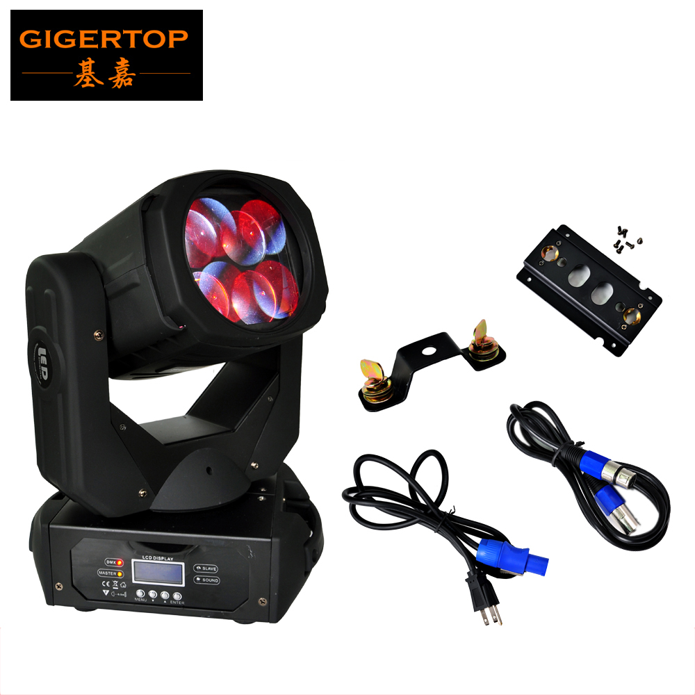 TIPTOP Blizzard Nova 4*25W 4IN1 Super Led Moving Head Light RYBW Color Moving Head Beam Light Beam Gobo Effect 9/15DMX Channels