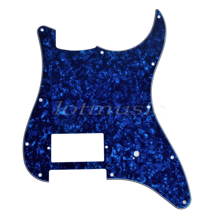 Guitar One Humbucker Pickguard Scratch Plate For Guitar Parts Replacement 3Ply Left Black 20pcs white pickguard 3ply pvc guitar scratch plate new for electric guitar replacement