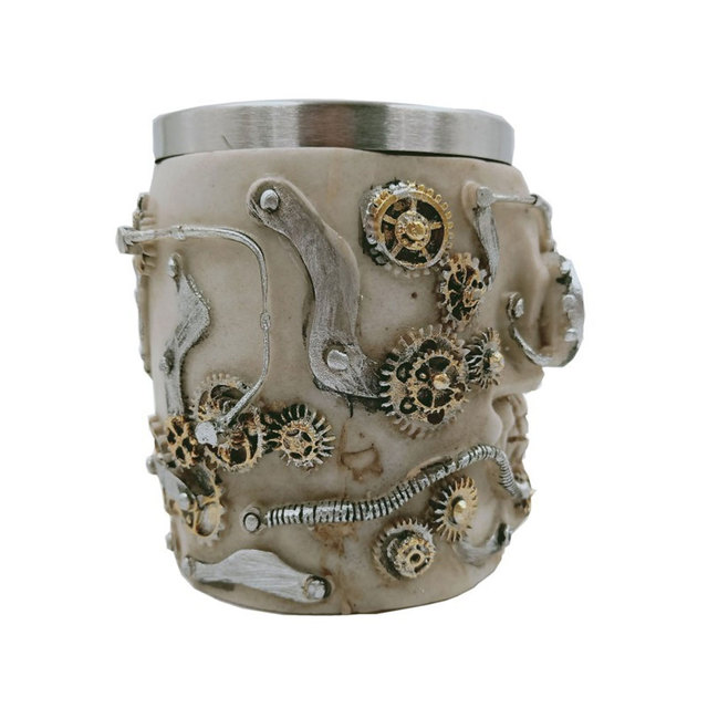 Steampunk Skull Style Beer Mug