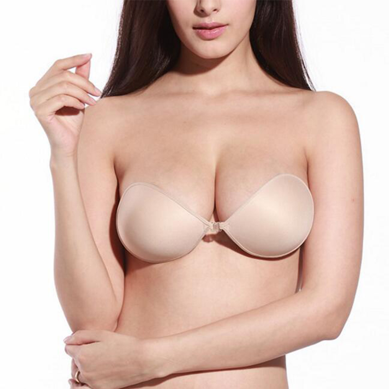 Silicone Bra Invisible Push Up Sexy Strapless Bra Stealth Adhesive Backless Breast Enhancer For Women Lady Nipple Cover 4