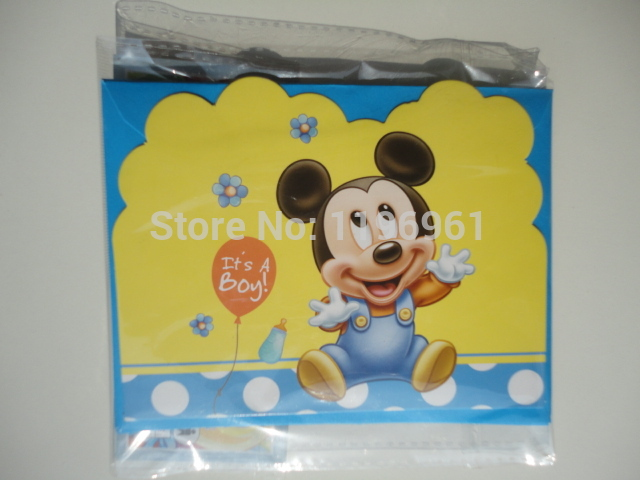 Festa Little Mickey Mouse 12 Boy Kids Birthday Party Decoration Baby Shower  Blue Itu0027s A Boy