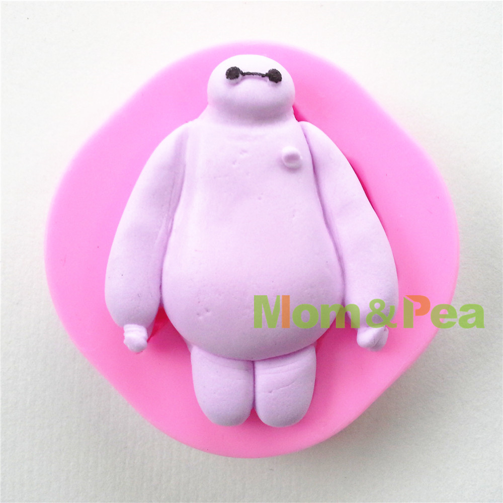 Mom&Pea 0650 Free Shipping Cartoon Big Bay Shaped High Quality Silicone Cake Decoration Fondant Cake 3D Mold S