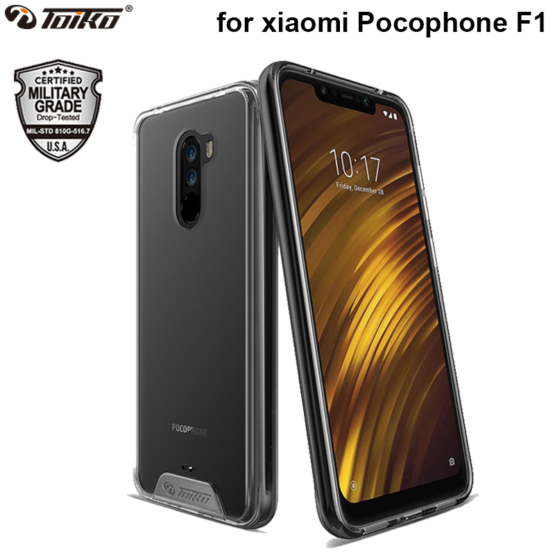 TOIKO Chiron Hybrid Hard PC Soft TPU Bumper Protective Cases for xiaomi Pocophone F1 Shockproof Shell Poco F1 Clear Phone CoverTOIKO Chiron Hybrid Hard PC Soft TPU Bumper Protective Cases for xiaomi Pocophone F1 Shockproof Shell Poco F1 Clear Phone Cover