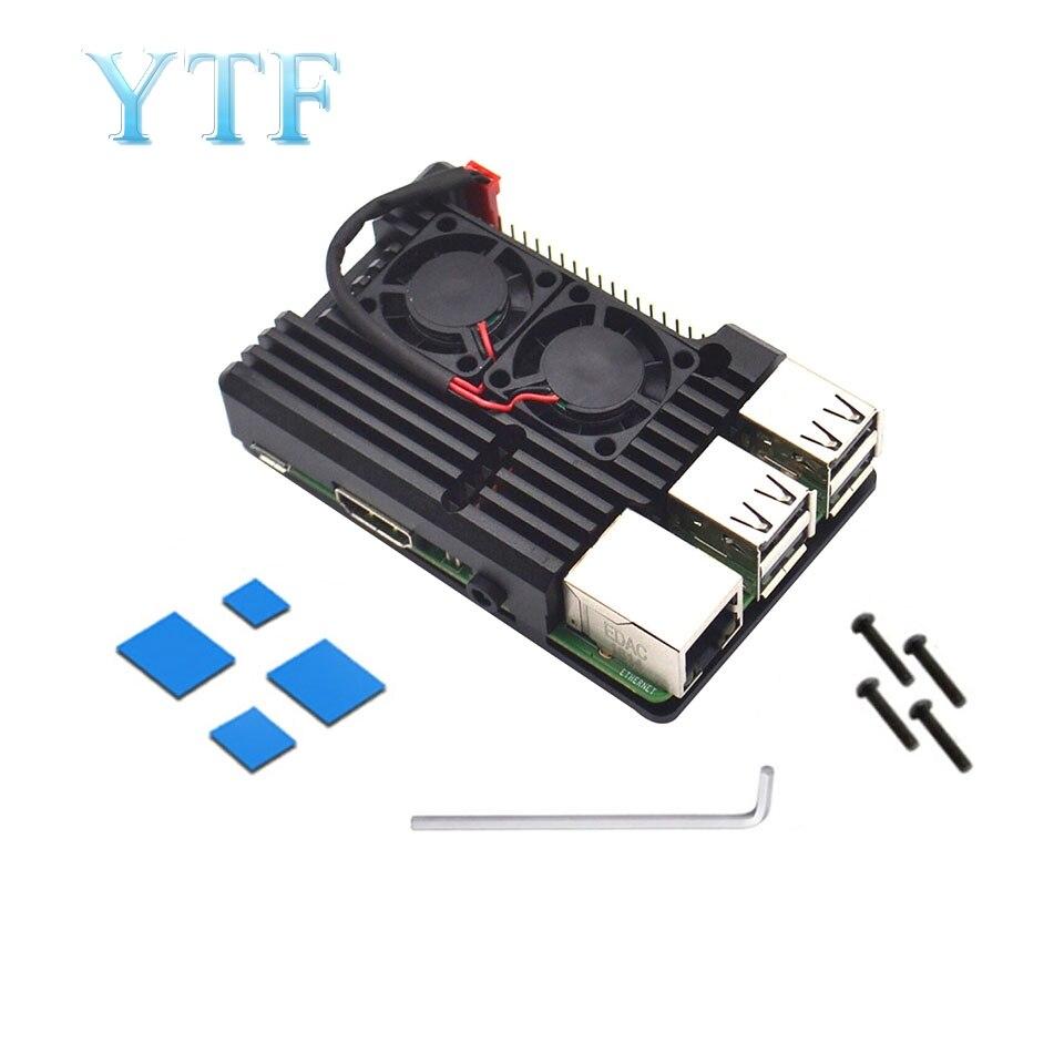 Raspberry Pi 4B 3B+ Model + (Plus) Dual Fan Cooling System Module With Heat Sink For Pi3 B + / NESPi Housing Ultra-thin Fan