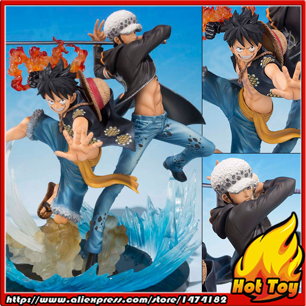 BANDAI Tamashii Nations Figuarts ZERO Collection Figure - Monkey D. Luffy & Trafalgar Law -5th Anniversary Edition- ONE PIECE one piece model fighting edition monkey d luffy sanji ace trafalgar law dracula mihawk