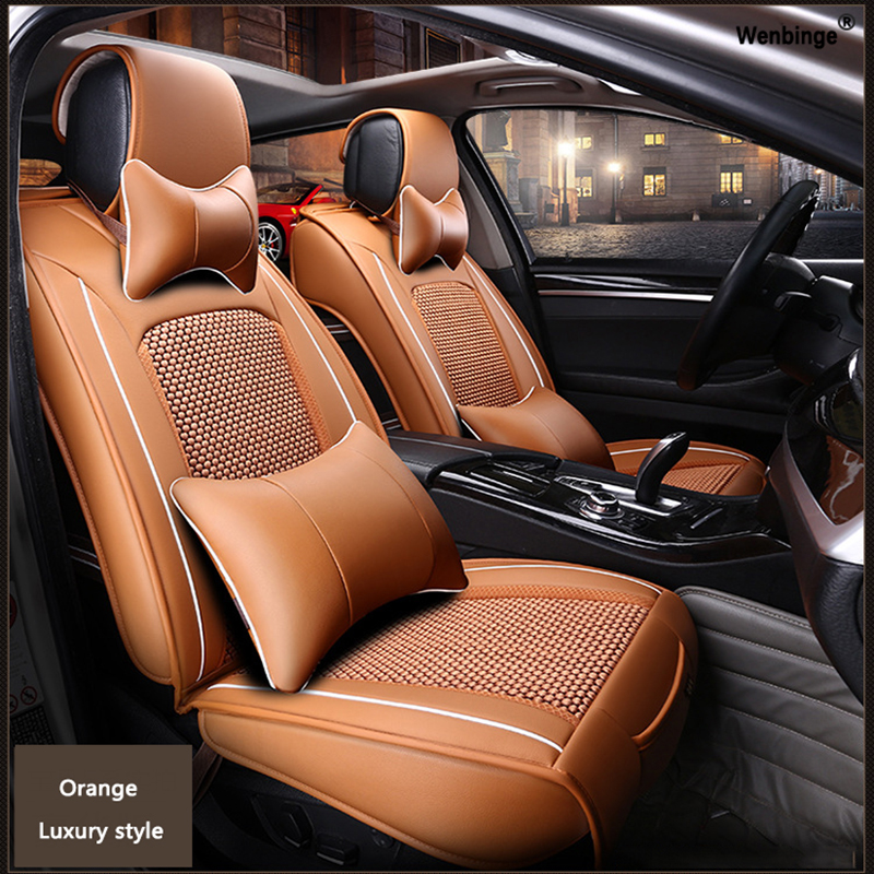 High quality Leather car seat cover for Jeep Grand Cherokee Wrangler Patriot Cherokee Compass automobiles accessories styling