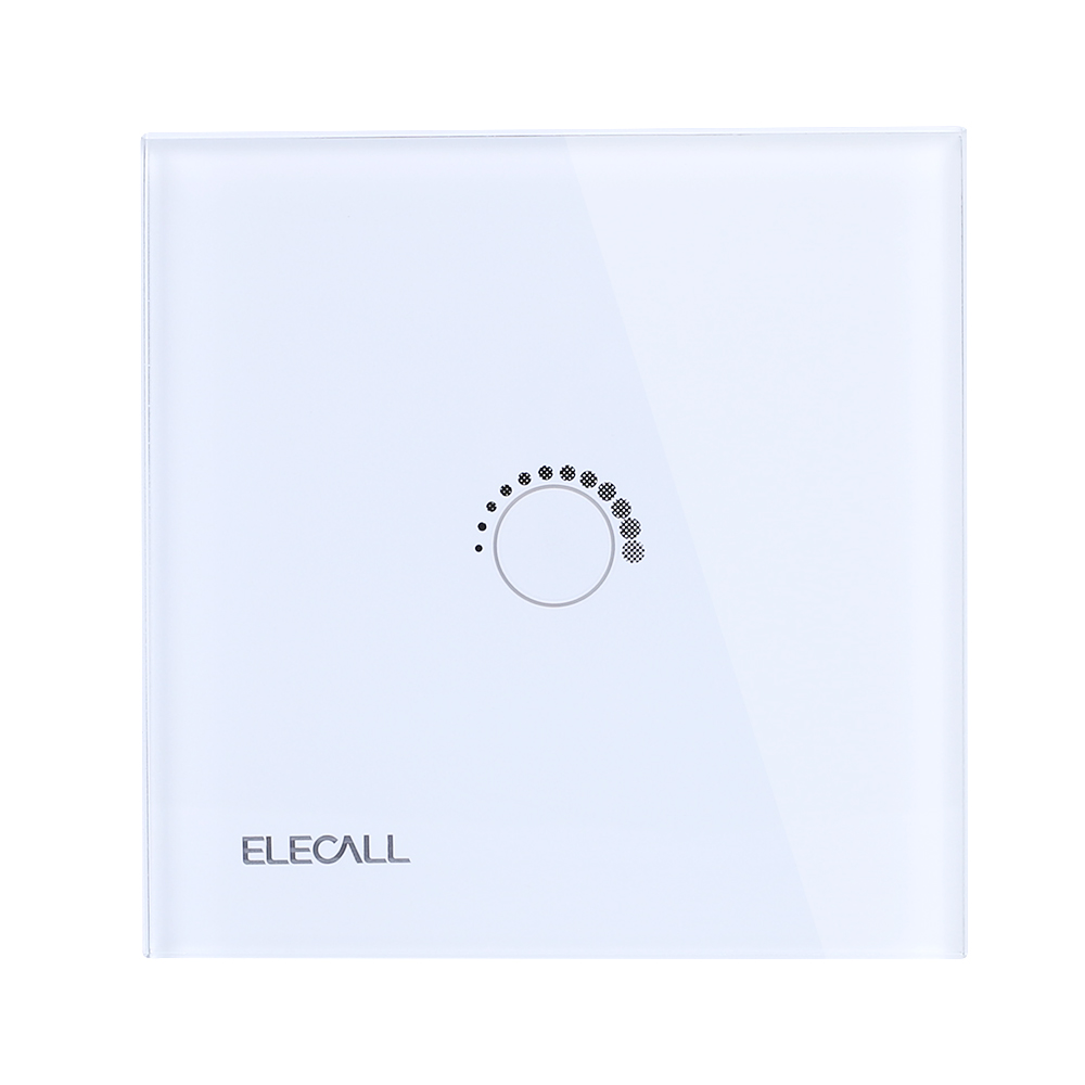 ELECALL Light switch Smart Touch Switch  Wall Light Touch Screen Indicator Crystal Glass Switch Panel SK-A801T-EU free shipping smart home us au standard wall light touch switch ac220v ac110v 1gang 1way white crystal glass panel