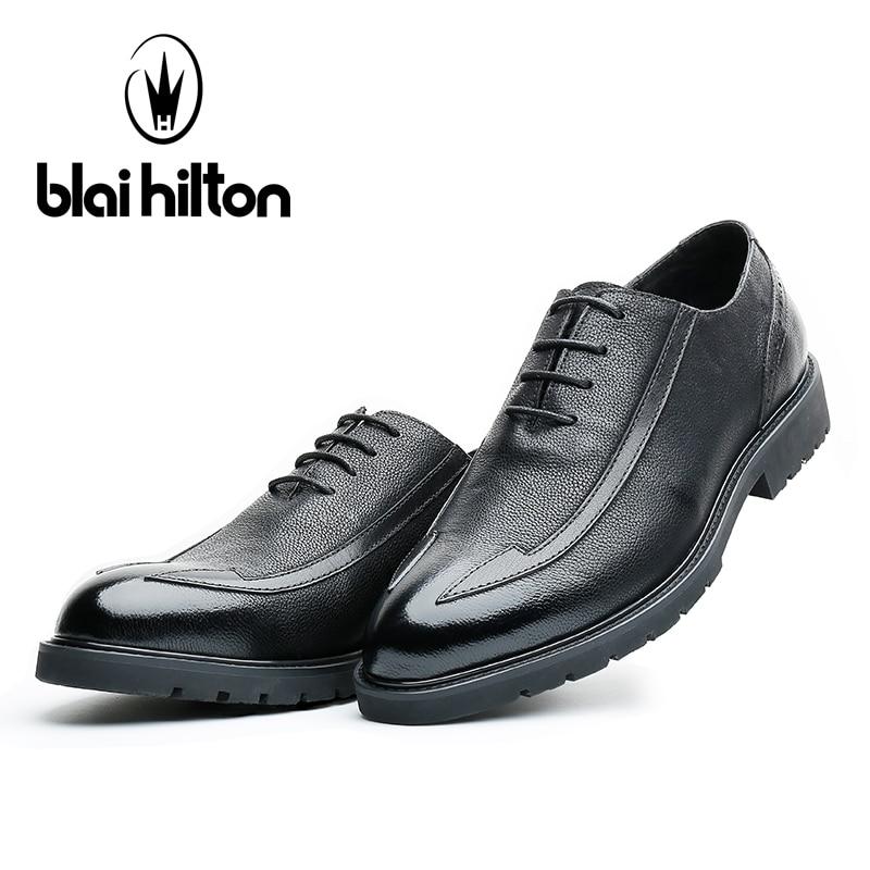 Hommes Noir D'affaires De Bureau Chaussures Marque Mariage Italien 2017 Oxford En Blaibilton Classique Cuir Britannique Véritable Robe Formelle z0T8fqw