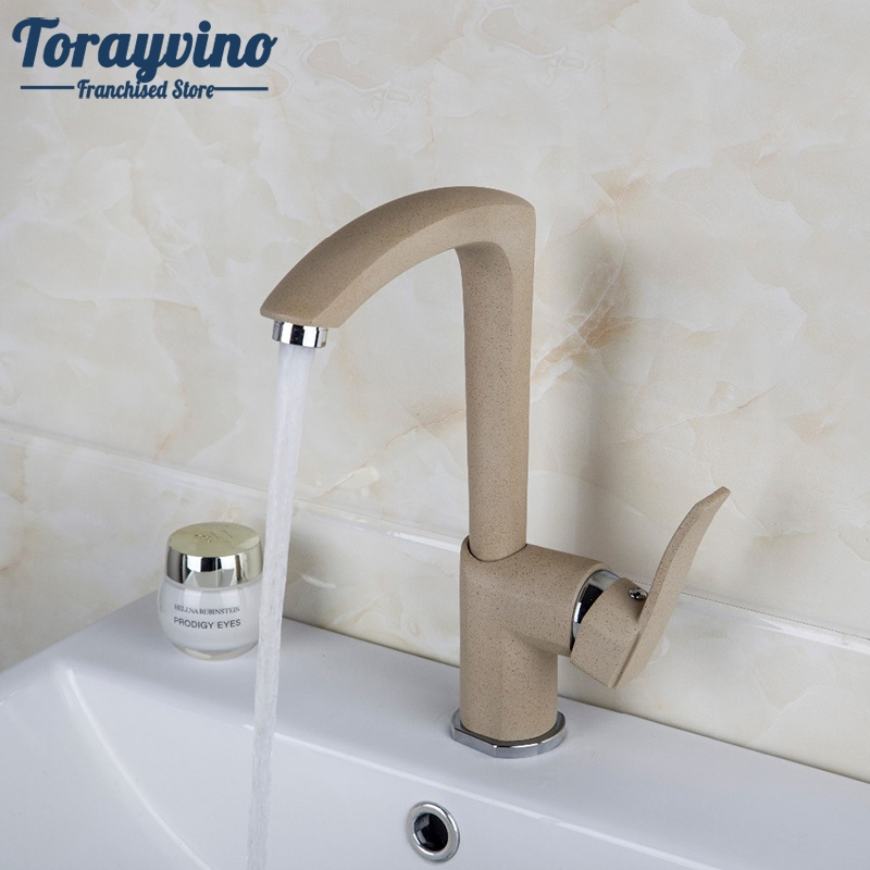цены Bathroom Basin Faucet bathroom faucets single handle Hot and Cold Water Tap Deck Mounted Mixer Tap.