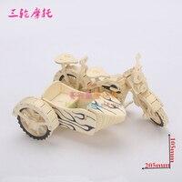 3D 나무 모델 DIY 퍼즐 장난감 아기 선물 손 작업 조립 나무 게임 모터 세발 자전거 세 바