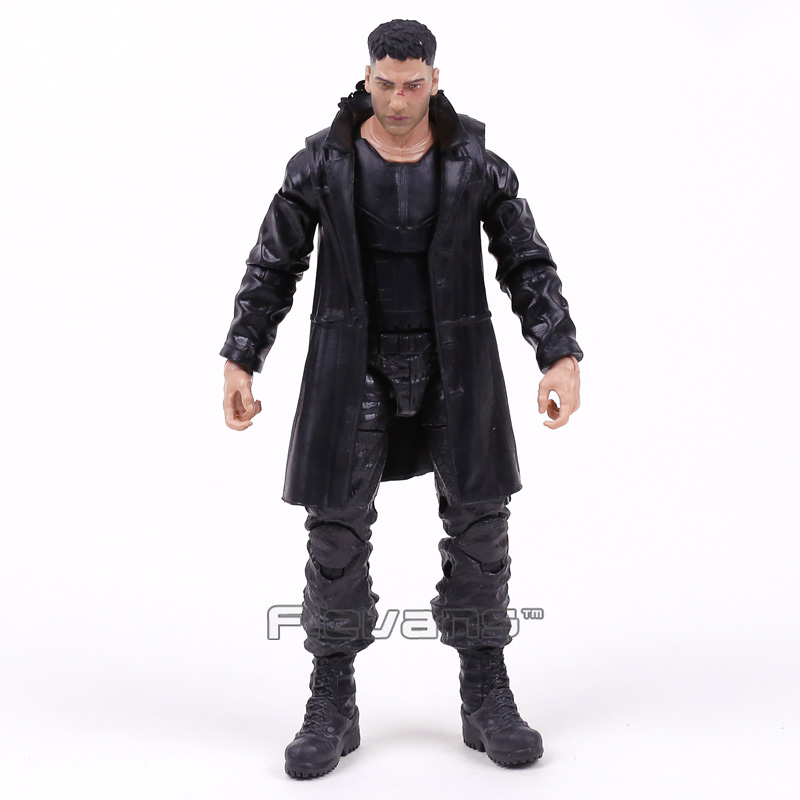 Genuine Marvel Legends Punisher PVC Action Figure Collectible Model Toy 16cm marvel avengers chess captain america pvc action figure collectible model toy 15cm hrfg462