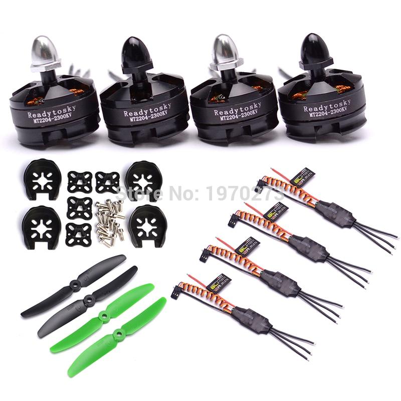 MT2204 2204 2300KV Brushless Motor BLHeli Simonk 12A ESC 5030 Prop For QAV250 Quadcopters Robocat 270mm
