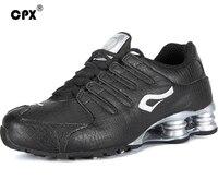 Original CPX Men Leather Shox Tenis Sports Shoes Crocodile Black White Men Tennis Zapatillas Deportivas Hombre