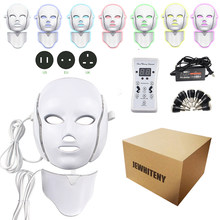 2 soorten 7 Kleuren Elektrische Led Gezichtsmasker Gezichtsmasker Machine Lichttherapie Acne Masker Nek Schoonheid Led Masker Led photon Therapie(China)