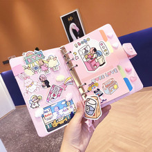 Kawaii милые записная книжка планировщик для девочек A6 Справочник миллиметровая бумага канцелярские отмечает, ежедневно школьные принадлежности путешествия журнал