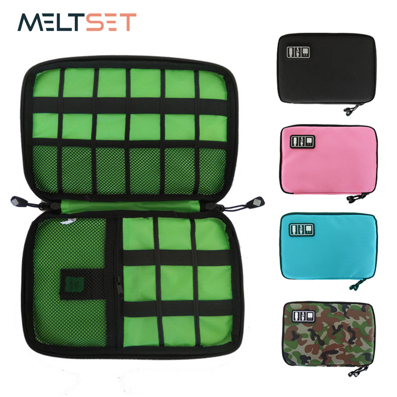 Gadget Cable Organizer Storage Bag Travel Electronic Accessories Cable Pouch Case USB Charger Power Bank Holder Digitals Kit Bag(China)