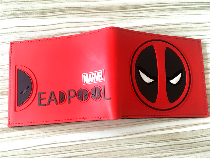 Deadpool wallet animated cartoon fashion brand purse Young boys and girls purse personality Man purse W321 все цены