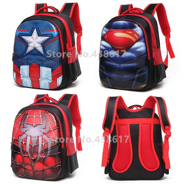 Superman Pour America Sacs Spiderman Captain 3d Sac D'école Dos À kXOZPiu