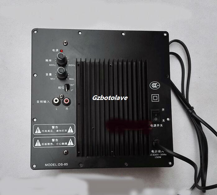 220 В HIFI Профессиональный большой мощности 250 Вт усилитель доска домой сабвуфер кинотеатр бас усилитель мощности доска