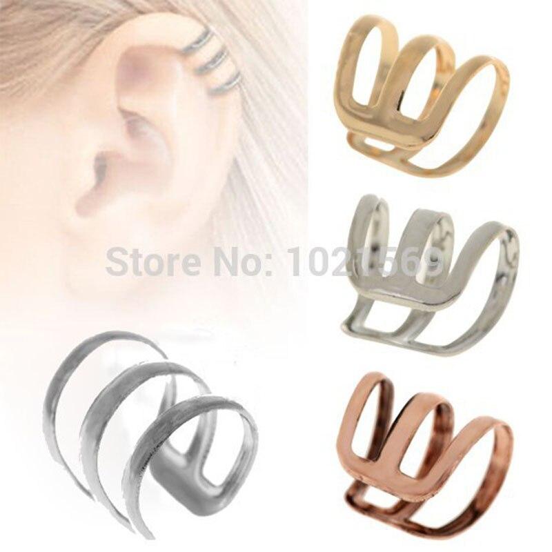 ٩(^‿^)۶Punk estilo del clip del oído cuff WRAP Pendientes no ...