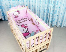 5 pcs Baby Crib Bumper Kids baby bedding set baby bedding baby crib sheets100 cotton boy