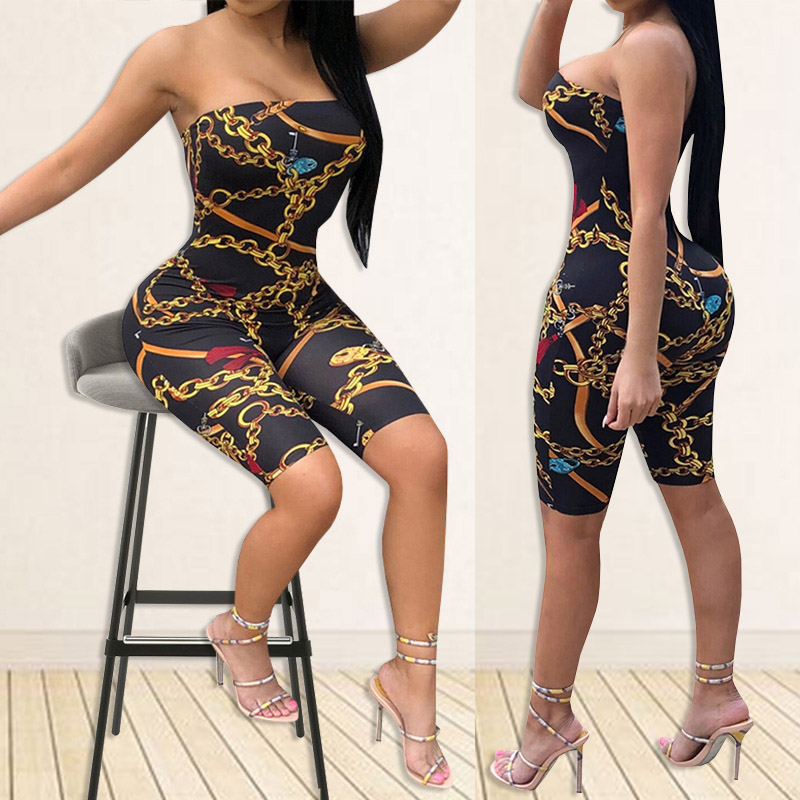 HTB1xJENXOzxK1RkSnaVq6xn9VXae - Sexy Jumpsuit Party Bodysuit Overalls Womens Jumpsuit Club Strapless Full New Fashion Printed Bodycon Rompers