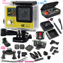 """Original cámara del deporte H3R Ultra 4 K HD 2.0 """"de doble Pantalla de la Lente gopro Acción Cámara Impermeable 30 m 170D Estilo cámara + batería extra"""