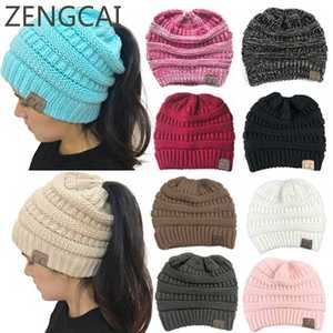 ZENGCAI Winter Hats For Women Warm Caps Female Knitted 122ab5414a09