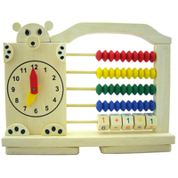 montessori wood toy cute bear calculation frame child puzzle game wooden math teaching toys