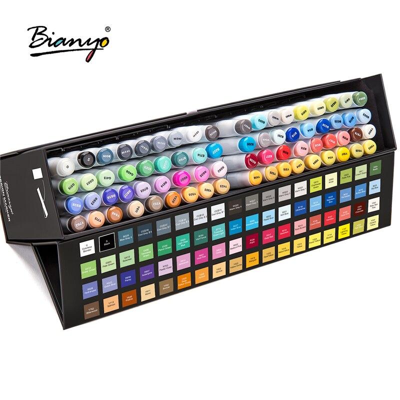 Bianyo croquis Art marqueur stylo pour dessin 72 couleurs aquarelle stylos artiste double marqueurs double tête eau marqueur fournitures scolaires