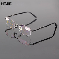Classic Men Alloy Multifocal Progressive Reading Glasses Rectangle Half Rim Coating Lens Comfortabl Diopter 1 0