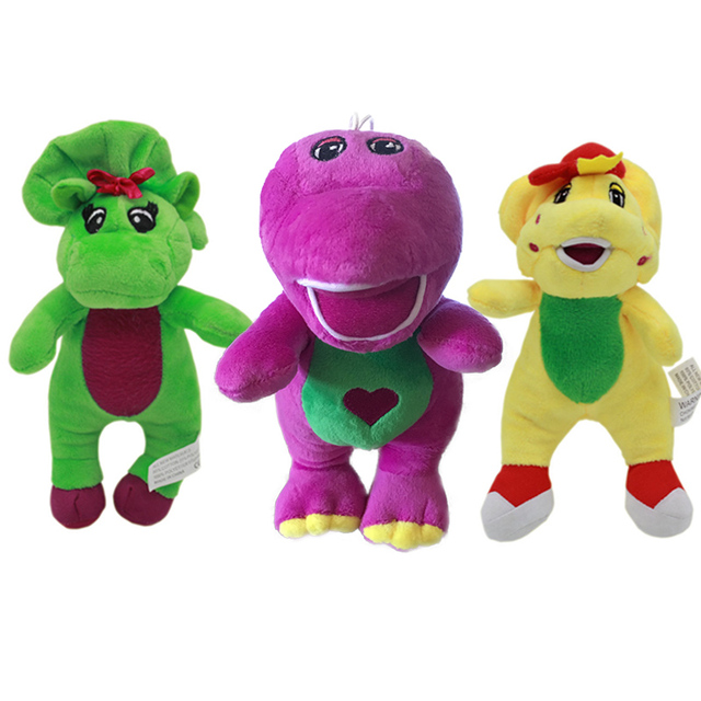 1pc 18cm Cute Green Yellow Barney Dinosaur Barney And Friends Plush
