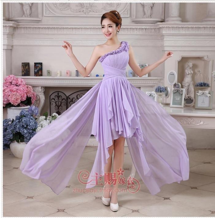 2014 fashion chiffon long bridesmaid dress bride Korean flower one ...
