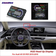 Liandlee Car HUD Head Up Display For Audi A5 S5 RS5 2015-2018 Safe Driving Screen OBD II Speedometer Projector Windshield liandlee car hud head up display for lexus gx470 rx300 rx330 lx nx ux safe driving screen obd speedometer projector windshield