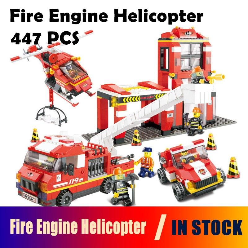 Kits de construction de modèles compatibles avec la caserne de pompiers de ville 0227 blocs 3D jouets éducatifs de construction loisirs pour les enfants