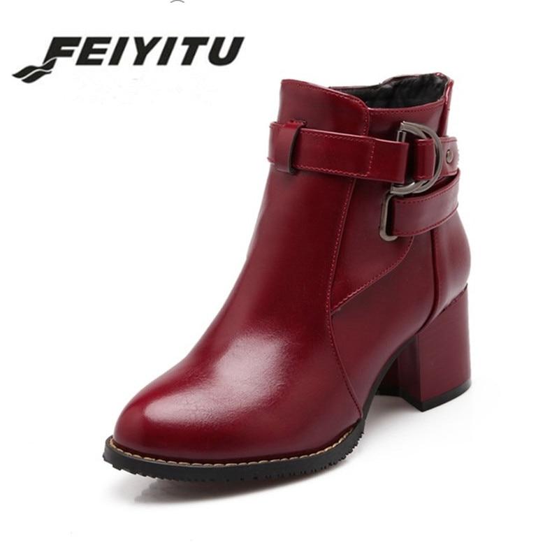 Chelsea Hebilla negro red Zapatos Cuadrados Med Mujer Botas Tamaño Beige Moda 34 Plataforma Fur black Talones Gran Fur Fur 2018 De 44 rojo Feiyitu Tobillo beige q8aw7UFU