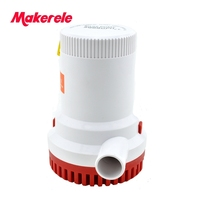 MKBP G2000 12/24V 2000GPH 3m3/h DC Submersible water Bilge pump for Fountain garden irrigation swimming pool cleaning farming