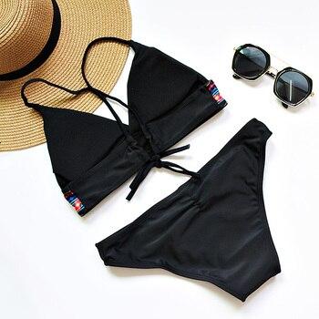 PLAVKY costumi da bagno donna 2017 Women Sexy Bikini Set Push Up Swimsuit Print Fringe Bikini Beach Swimwear Women Bathing Suits 4