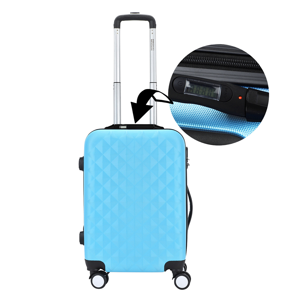 Suitcase PROFFI TRAVEL PH8645blue plastic blue with built-in weights M philips vtr7000 4g voice recorder with built in microphone
